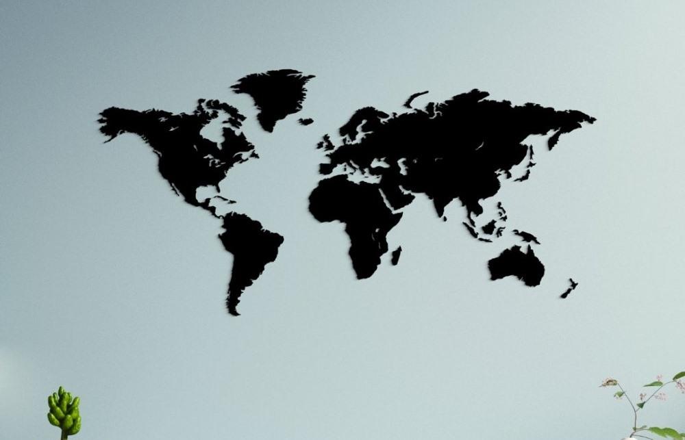 Drevená mapa Sveta od Dublez zaujme svojim 3D dizajnom. Hravo ju upevníte priamo na stenu